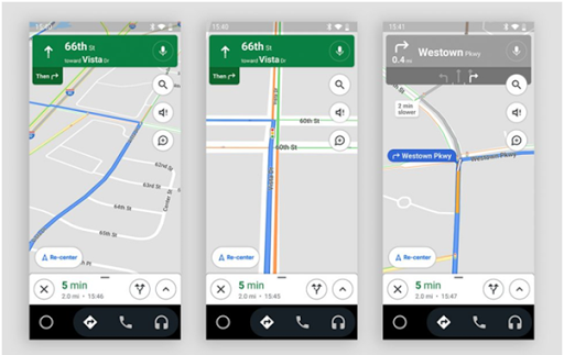 Google Maps tests showing traffic lights on Android 2021